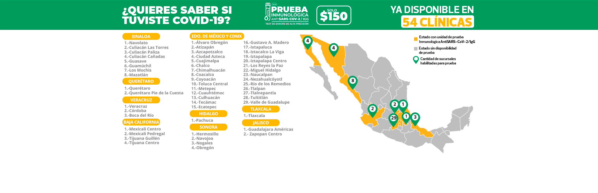 Banner mapa de clinicas abiertas