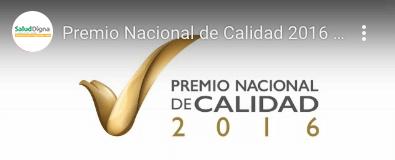 PREMIO NACIONAL DE CALIDAD 2016 Video Youtube